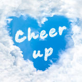 Cheer up word nature on blue sky Stock Photography