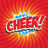 Cheer! wording Stock Photography