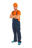 Cheerfful constructor worker Royalty Free Stock Image
