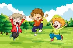 cheerful illustrazione di stock