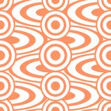 Cheerful abstract seamless print of circles and rings Stock Image