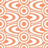Cheerful abstract seamless print of circles and rings Stock Image
