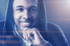 Cheerful African American man, film effect Stock Image
