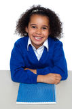 Cheerful African American student Royalty Free Stock Photos