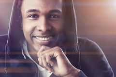 Cheerful African American young man Royalty Free Stock Photo