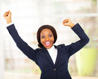 Cheerful african businesswoman Royalty Free Stock Photography