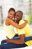 Cheerful african couple stock photos