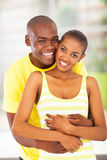 Cheerful african lovers Stock Photo
