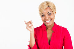 Cheerful African woman Royalty Free Stock Image