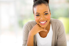Cheerful african woman Royalty Free Stock Photos