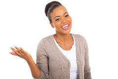 Cheerful african woman Stock Images