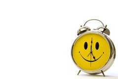 Cheerful Alarm Clock With Shadow and Copy Space Royalty Free Stock Photo