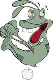The cheerful alien. Cartoon Royalty Free Stock Image