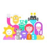 Cheerful Aliens royalty free illustration