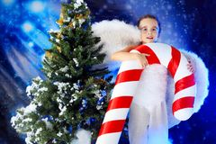 Cheerful angel Royalty Free Stock Images