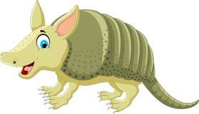 Cheerful armadillo cartoon Royalty Free Stock Photos