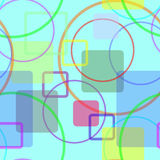 Cheerful. This Art describe about cheerful, many colors circle and square in random position Royalty Free Stock Photos