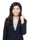Cheerful asia business woman Stock Photos