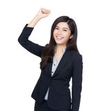 Cheerful asia businesswoman Royalty Free Stock Images