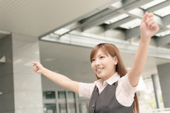 Cheerful Asian business woman Stock Image