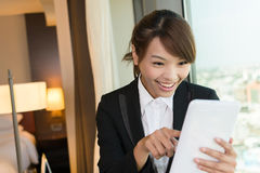 Cheerful Asian business woman Royalty Free Stock Image