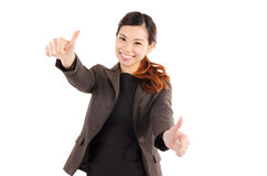 Cheerful asian businesswoman Royalty Free Stock Images
