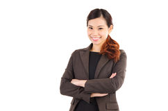 Cheerful asian businesswoman Stock Photography