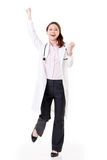 Cheerful Asian doctor Stock Photography