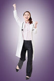 Cheerful Asian doctor Stock Image