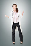 Cheerful Asian doctor Royalty Free Stock Photography