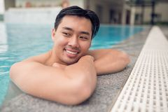 Cheerful Asian man Stock Images