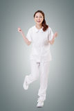 Cheerful Asian nurse Royalty Free Stock Image