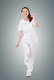 Cheerful Asian nurse Royalty Free Stock Photos