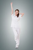 Cheerful Asian nurse Stock Image