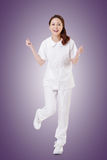 Cheerful Asian nurse Stock Photo