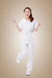Cheerful Asian nurse Stock Photography