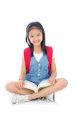 Cheerful asian school child Royalty Free Stock Photography