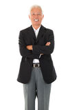 Cheerful Asian senior businessman Stock Photos