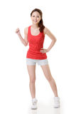 Cheerful Asian sport girl Royalty Free Stock Images