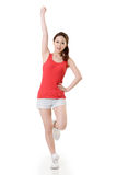 Cheerful Asian sport girl Stock Image