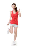 Cheerful Asian sport girl Stock Images