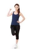 Cheerful Asian sport girl stock photos