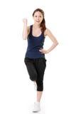 Cheerful Asian sport girl Royalty Free Stock Photo