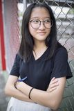 Cheerful asian teenager happiness emotion stock image