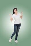 Cheerful Asian woman royalty free stock image