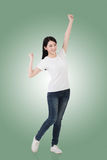 Cheerful Asian woman Stock Image