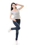 Cheerful Asian woman royalty free stock photography