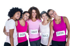 Cheerful athletes with arms around Royalty Free Stock Photo