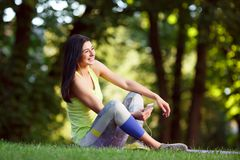 Cheerful athletic woman Stock Photography