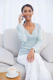 Cheerful attractive woman on the phone Royalty Free Stock Image
